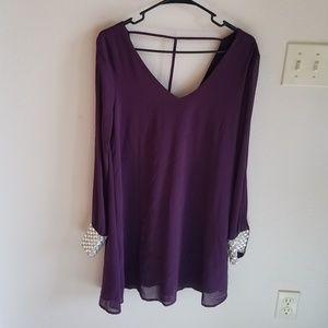 Akira Chicago Red Label Purple Dress